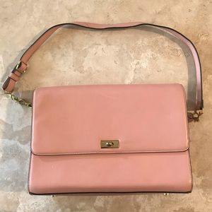 Jcrew pink leather purse new with tags